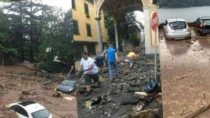 Дожди обрушились на север Италии: озеро Комо вышло из берегов и затопило близлежащие селения (фото, видео)