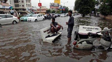 Количество погибших в результате наводнение в Индии возросло
