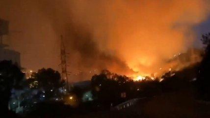 В Турции продолжаются пожары - загорелась ТЭС (видео)