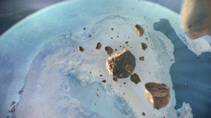 Гигантский кратер нашли подо льдом Гренландии