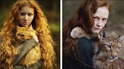 Огненная красота: удивительные снимки рыжеволосых девушек (Фото)