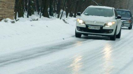 6 января на дорогах Киева ожидается тотальная гололедица
