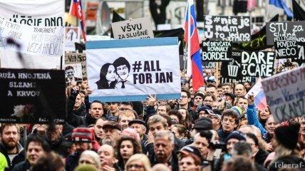 В Словакии из-за убийства журналиста демонстранты требуют досрочных выборов