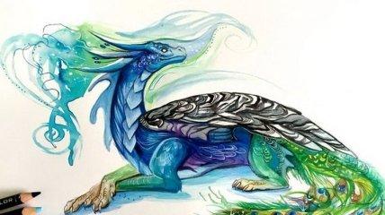 Яркие красочные рисунки животных от талантливой художницы (Фото)