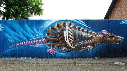 Яркие рисунки, которые украсили неприметные серые здания (Фото)