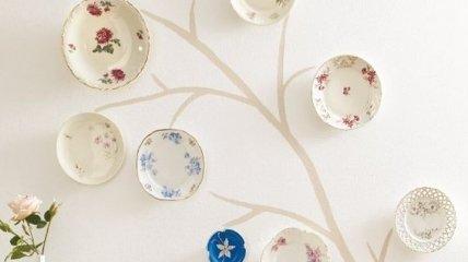 Креативное декорирование стен тарелками: идеи для ремонта (Фото)