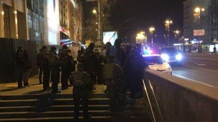 На Майдане произошли протесты и столкновения с полицией