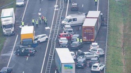 Во Франции масштабное ДТП с участием 50 авто, есть жертвы