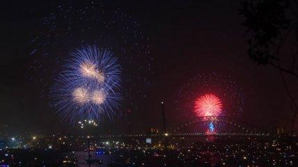 Лучшие новогодние фейерверки со всего мира (Фото)