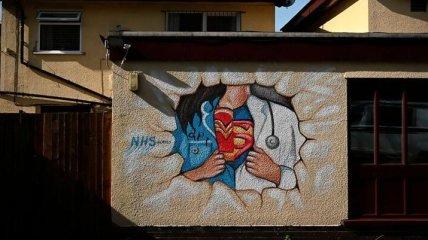 Уличное искусство о коронавирусе: крутые рисунки на стенах, посвященные CoVid-19