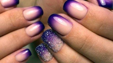 Маникюр 2020: актуальные идеи изумительного фиолетового френча (Фото)