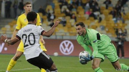 Ошибка Бущана подарила Германии победу над Украиной в матче Лиги Наций