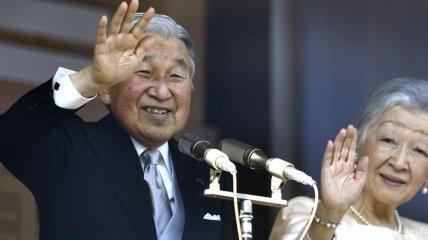 Тысячи японцев поздравили императора Акихито с Новым годом