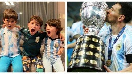 Милота дня: маленькие дети Месси спели в честь победы Аргентины на Кубке Америки (видео)