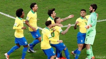 Бразилия обыграла Парагвай по пенальти и вышла в полуфинал Копа Америки