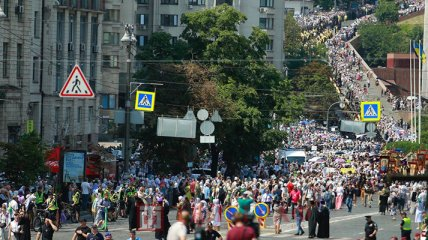 Крестный ход УПЦ МП парализовал Киев: эксклюзивный фоторепортаж