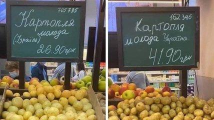 """""""А там засуха и никогда не было чернозема"""": сеть озадачил картофель из Израиля, который на 50% дешевле украинского (фото)"""