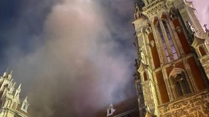 Пожар в костеле Св.Николая
