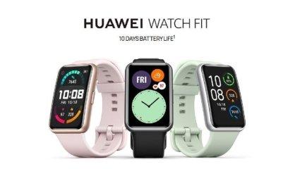 Huawei Watch Fit: компания выпустила бюджетные смарт-часы с прямоугольным дисплеем (Фото)