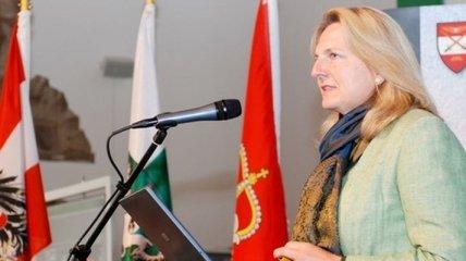 Глава МИД Австрии высказалась относительно санкций к РФ