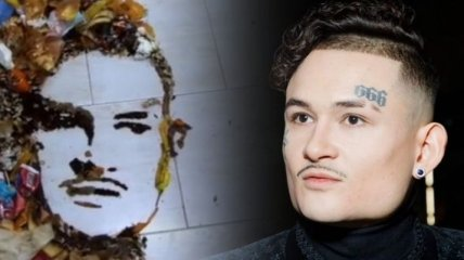 """""""Красиво и со смыслом"""": портрет Моргенштерна выложили из мусора"""