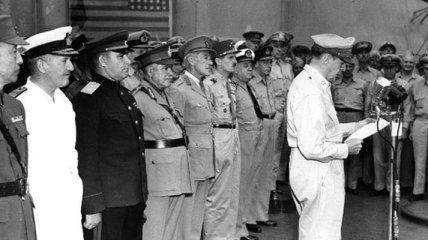 Капитуляция Японии 2 сентября 1945 года (Фотогалерея)