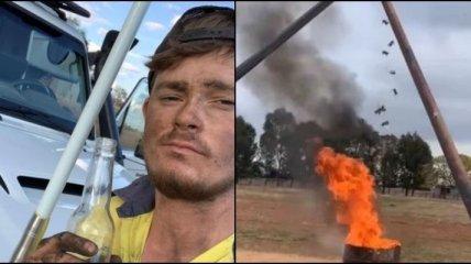 Австралийский фермер прославился, сняв для ТикТок огненный метод борьбы с грызунами (видео)
