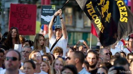 В Вене прошла акция в поддержку мигрантов