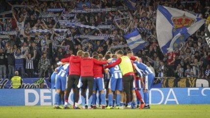 Депортиво обыграл Малагу в первом полуфинальном матче за выход в Ла Лигу (Видео)