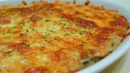 Кулинарный рецепт: Запеканка из куриного фарша с овощами и сыром