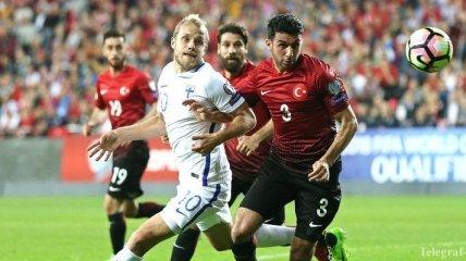Отбор на ЧМ-2018. Турция на своем поле обыграла Финляндию