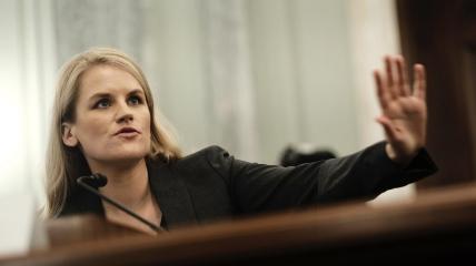 Фрэнсис Хоген на слушаниях в Сенате