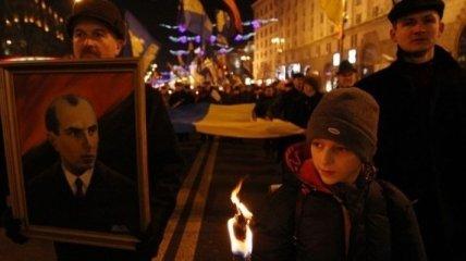 Факельное шествие в честь дня рождения Бандеры закончилось в Киеве