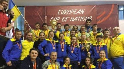 Сборные Украины завоевали две награды по борьбе на Кубке Европейских наций