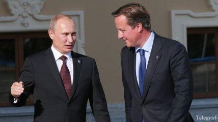 Путин обсудил с Кэмероном выполнение Минских договоренностей