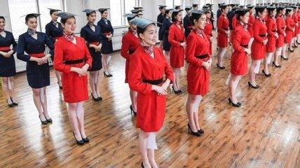 Как проводится повышение квалификации стюардесс в Китае (Фото)