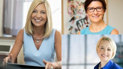 """Тройка лидеров списка """"Самые влиятельные женщины""""."""