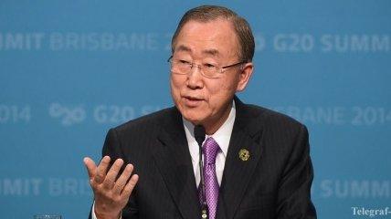 Пан Ги Мун: Кризис в Украине угрожает мировой безопасности