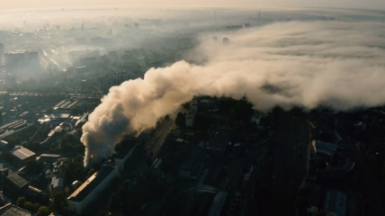 Дым окутал харьковский микрорайон Холодная гора