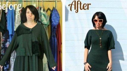 До и после: удивительные превращения одежды из секонд-хенда (Фото)