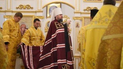 На Черниговщине Епифаний освятил отремонтированный Вознесенский храм