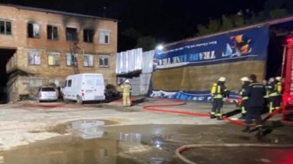 В Киеве горел хостел на Симиренко, жертва