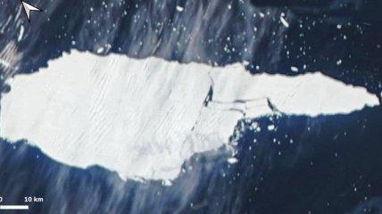 Самый большой в мире айсберг раскололся на части: спутниковые фото попали в сеть