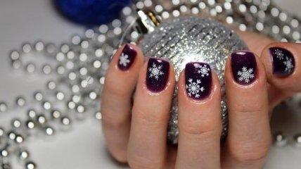 Маникюр 2020: потрясающие варианты зимнего дизайна ногтей (Фото)