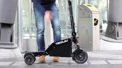 Самый маленький в мире электрический скутер