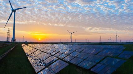 Среди возобновляемых источников энергии - ветряная и солнечная