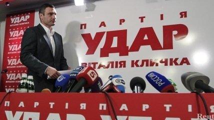 Опрос: Кличко опережает Януковича