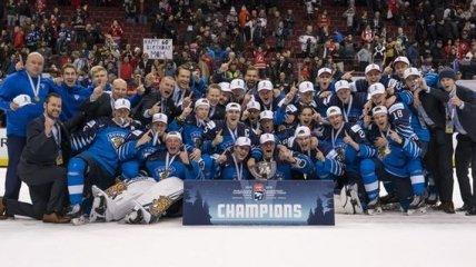 Сборная Финляндии в пятый раз выиграла молодежный чемпионат мира по хоккею