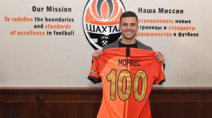 Жуниор Мораес провел 100 матчей за Шахтер