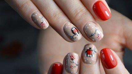 Маникюр 2020: свежие идеи зимнего дизайна на короткие ногти (Фото)